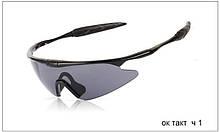 Тактические стрелковые очки черные Ч1