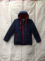 Куртка  детская демисезонная для девочки 7-11 лет,темно синяя