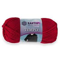 Пряжа Kartopu Tempo темно-красный №132 для ручного вязания
