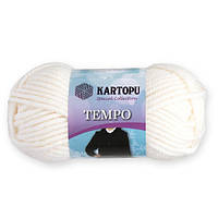 Пряжа Kartopu Tempo белый №010 для ручного вязания