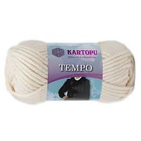 Пряжа Kartopu Tempo молочный №025 для ручного вязания