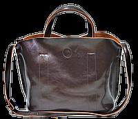 Интересная женская сумка из натуральной кожи коричневого цвета GRD-533400