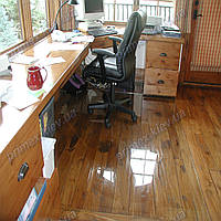 Ковер под кресло для защиты пола прозрачный 125х200см. Толщина 1,0мм.