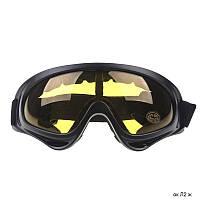 Горнолыжные солнцезащитные очки-маска Л2 желтые