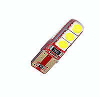 Автомобильная LED лампа T10-5050-6SMD Canbus 12V