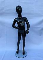 Гипсовый манекен детский черный