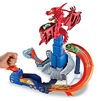 Трек Хот Вилс Атака Дракона, Hot Wheels Dragon Blast Playset