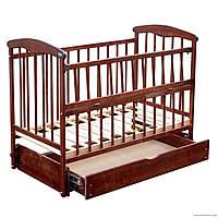 """Кровать детская """"Наталка"""" Ольха тонированная. Маятник, ящик, откидной бортик"""