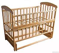 """Кровать детская """"Наталка"""" Ясень светлый. Маятник, откидной бортик."""