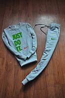 Мужской серый спортивный костюм Nike Just Do It logo | найк