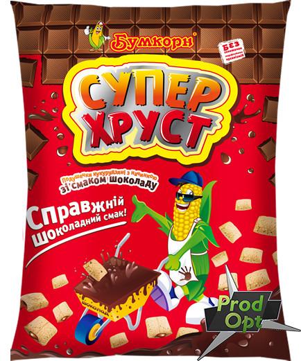 Кукуруздяні подушечки Супер Хруст шоколад 50 г (від 10шт)