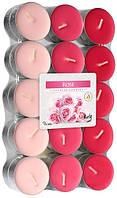 Свечи ароматические роза 30шт таблетки чайные