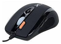 Мышь A4Tech X-710MK USB X7 Game Oscar mouse, Black
