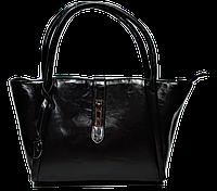 Аккуратная женская сумка из искусственной кожи черного цвета PJO-356001