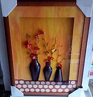 Рамка с цветочным оформлением.