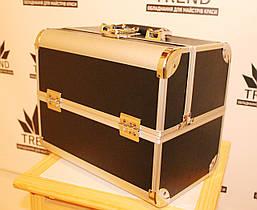 Кейс для мастеров красоты, черный матовый в металле, фото 3