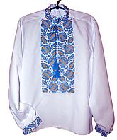 "Чоловіча вишита сорочка ""Нотін"" (Мужская вышитая рубашка ""Нотин"") SK-0005"