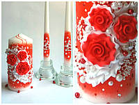 Набор свечей Семейный очаг Красные