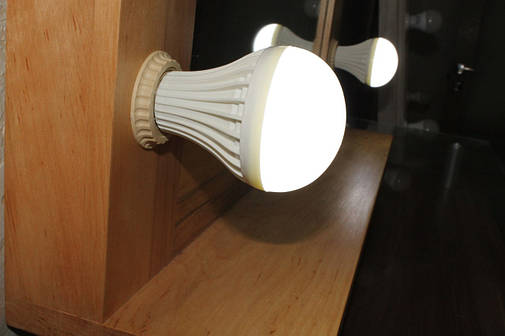 ЛЕД лампа, комбинированная которая меняет цвет (теплый / холодный), фото 2