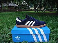 Кроссовки мужские Adidas Samba. (адидас самба) темно-синие