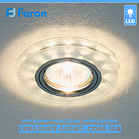 Врезной точечный светодиодный светильник Feron 8686-2 LED с подсветкой