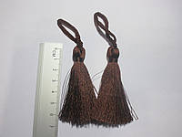 Китиця декоративна мала 7 см темно-коричнева 1 шт.