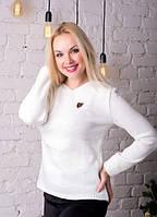 Кофта женская трикотажная нежная белая нарядная .