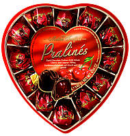 Конфеты пралине Pralines dark chocolate with cherry with liqueur  Maitre Truffout  , 140 гр