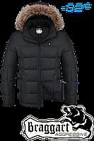Куртка на меху мужская Braggart Aggressive - 4233H черная