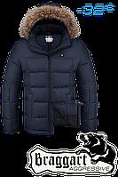 Куртка на меху мужская Braggart Aggressive -  4233U темно-синяя