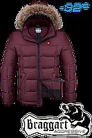 Куртка на меху мужская Braggart Aggressive - 4233L бордовая