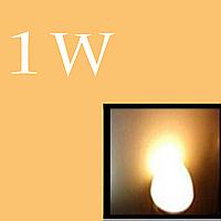 Led диод 1w (Warm White) с подложкой