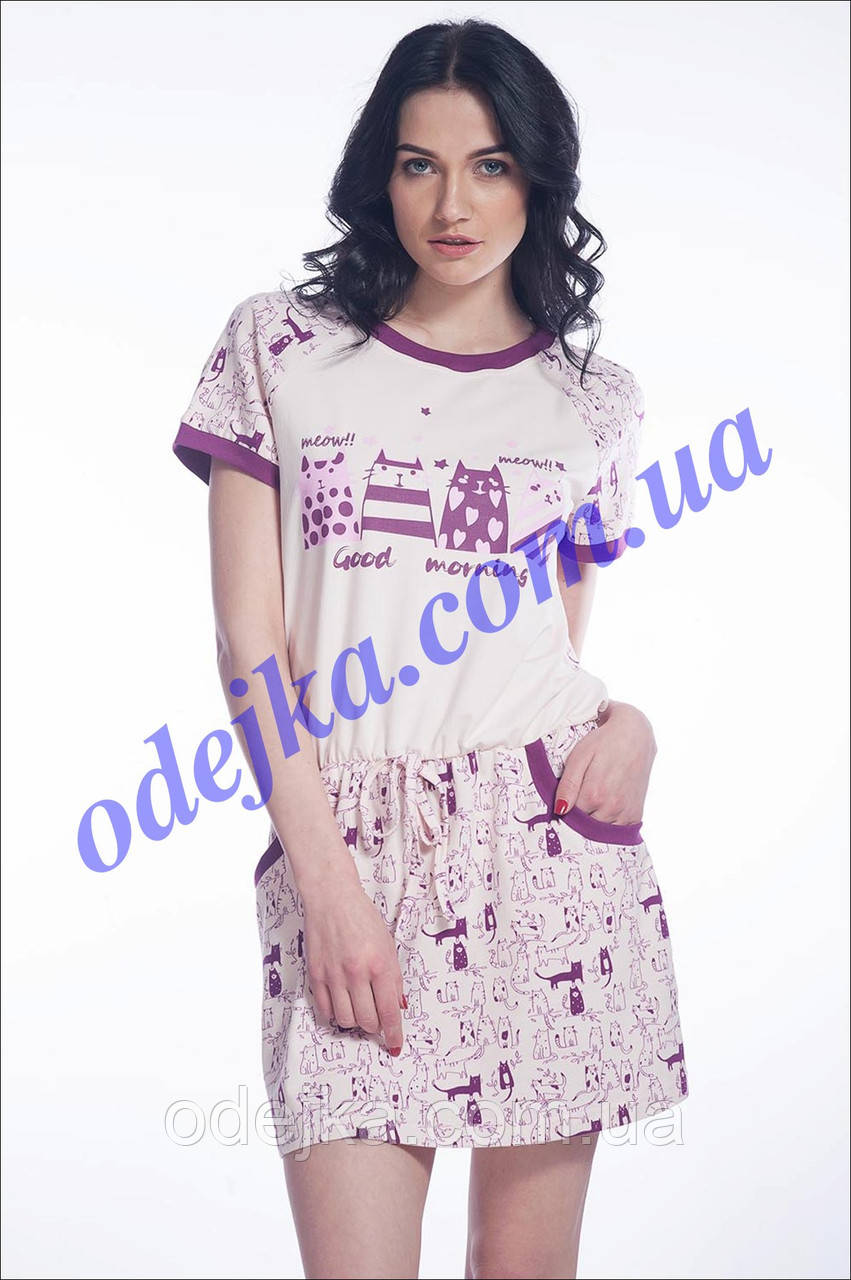 Домашнее платье, сорочка женская  LND 008/001 (ELLEN).