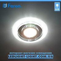 Врізний точковий світлодіодний світильник Feron 8060 з LED підсвічуванням, фото 1