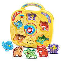 """Музыкальная рамка-вкладыш пазл """"Вращай и учи животных"""" Spin & Learn Animal Puzzle"""