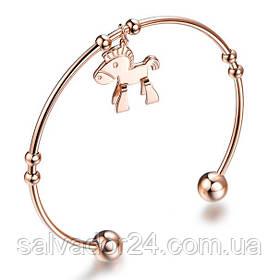 Женский браслет с лошадкой  Louis Vuitton (реплика)