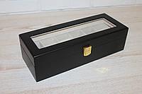"""Шкатулка для часов """"Прага"""" деревянная на 6 отделений"""