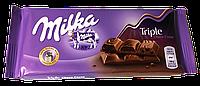 Шоколад молочный Milka Triple Choco Cocoa (Милка с 3 начинками) 90г (Швейцария)