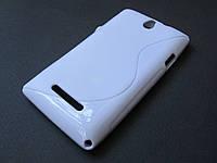 Полимерный TPU чехол Sony Xperia E dual c1605 (белый)