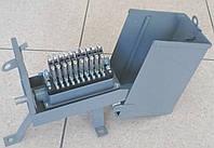 УКС-10х2 — Устройство кабельное соединительное с 10-парным карболитовым плинтом с защитой, стальной корпус