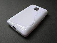 Полимерный TPU чехол LG Optimus L3 II E425 (белый)