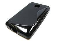 Полимерный TPU чехол LG Optimus L3 II E425 (черный)