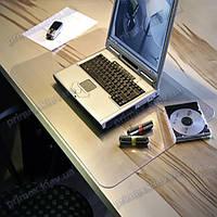 Коврик под ноутбук для защиты стола прозрачный 41х70см.