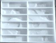 Силиконовая форма  для производства гипсовой плитки Марсель