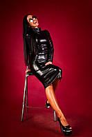 Женское шикарное платье из эко-кожи Lucky \ черное