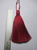 Кисти шелковые декоративные ( 1 шт ) Китиця декоративна велика 10-11 см бордо світла, 1 шт.  0140