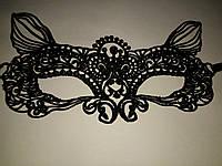 Маска ажурная кружевная карнавальная для эротических игр кошка черная