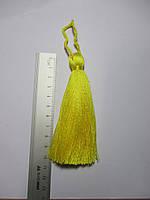 Китиця декоративна велика 10-11 см яскраво-жовта 0130, 1 шт.