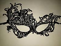 Карнавальная  держит форму Ажурная кружевная маска_лебедь