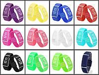 Силиконовые светодиодные Led часы-браслет мужские и женские.Улучшенная новинка!!!